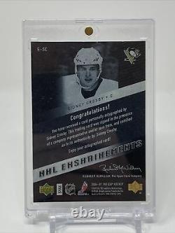 2006/07 Upper Deck UD NHL Enshrinements /50 Auto Sidney Crosby