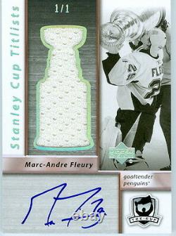 2009-10 The Cup Sidney Crosby Stanley Cup Titlists Game Used Jersey Auto 1/1