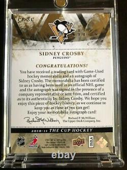 2010/11 Upper Deck The Cup Sidney Crosby Cup Foundations Quad Patches Auto 4/5