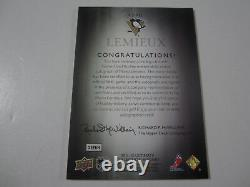 2011-12 Ultimate Collection Mario Lemieux Signed Autographed Dbl Jersey #'d 1/25