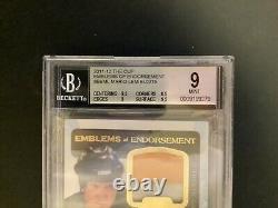 2011 The Cup Emblems Endorsement #EEML Mario Lemieux /15 BGS 9 10 Patch Au 3Cl
