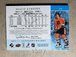 2012-13 Artifacts Mario Lemieux Dual Jersey Patch /75 Pittsburgh Penguins