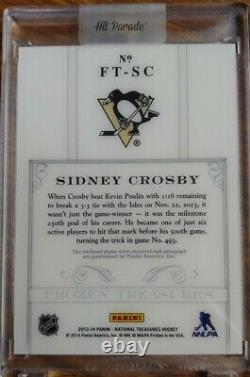 2013-14 National Treasures Hockey Frozen Treasures Sidney Crosby Auto 1/5