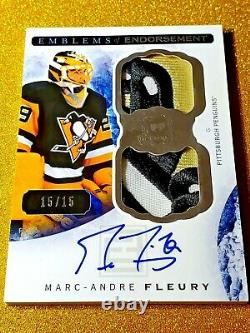 2014-15 The Cup Marc-Andre Fleury Emblems of Endorsement On Card Autograph EE-MF