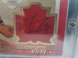 2015 Upper Deck Team Canada Master Collection Marc-Andre Fleury Patch Auto 03/25