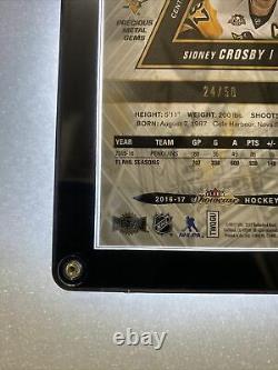 2016-17 Fleer Showcase Sidney Crosby Precious Metal Gems Blue 24/50 Rare PMG