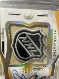 2017-18 Ultimate Auto NHL SHIELD Patch Sidney Crosby Autograph #1/1 HOLY GRAIL