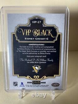 2019-2020 Sidney Crosby Vip Black Achievement Auto SSP Print Run 10! Rare