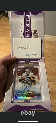 2019-20 UD Clear Cut JAKE GUENTZEL Young Guns Auto Rookie Tribute Card 19-20