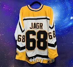 JAROMIR JAGR Vintage Pittsburgh Penguins NHL Hockey Jersey Starter Sz Xl