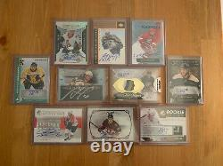 Lot of 10 NHL Auto Jersey Patch Cards #d Upper Deck Artifacts Trilogy Rookie SP