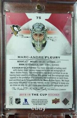 Marc Andre Fleury The Cup Red Tag 1/4 Ebay 1/1