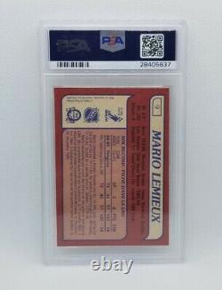 Mario Lemieux 1985-86 O-Pee-Chee #9 Rookie Card RC PSA 9