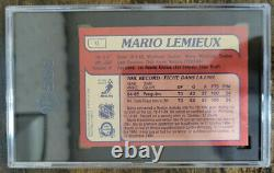 Mario Lemieux 1985-86 O Pee Chee #9 SGC 7 Rookie Card Pittsburgh Penguins NM HOF