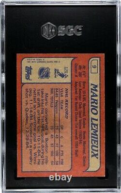 Mario Lemieux 1985-86 Topps Sgc 5 Graded Rookie Hockey Card Rc #9 Penguins NHL