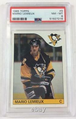 Mario Lemieux 1985 Topps # 9 Rookie Card PSA 8 (NM-MT) # 51927216