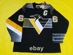 Mario Lemieux Pittsburgh Penguins Jersey Mens XL pro player jammie black yellow