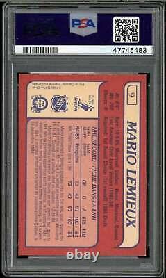 Mario Lemieux Rookie Card 1985-86 O-Pee-Chee #9 PSA 8
