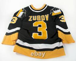 NHL CCM Pittsburg Penguins #3 Zubov SZ 44 Center Ice Collection Hockey Jersey