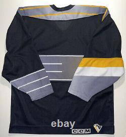 NHL Pittsburgh PENGUINS ROBO PENS Vintage Hockey Jersey MENS L CCM Black RARE