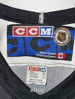 NHL Pittsburgh PENGUINS Vintage Hockey Jersey MENS XL CCM Robo Pens Black RARE