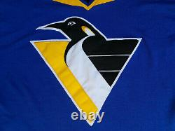 Pittsburgh Penguins Jersey Mens Medium retro Starter blue jammie M vintage 90s