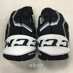 Pro stock CCM Quicklite hockey gloves 14 Pittsburgh Penguins SR HGQL NHL PITT