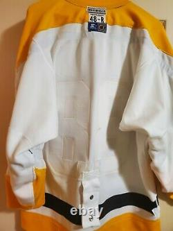RARE Starter Center Ice Pittsburgh Penguins Retro Robo Authentic Home NHL Jersey