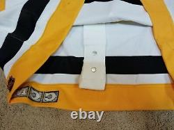 RON FRANCIS 92'93 White Pittsburgh Penguins Game Worn Used Jersey nhl coa