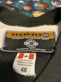 Rare Vintage Koho Authentic NHL Pittsburgh Penguins Fight Strap Hockey Jersey