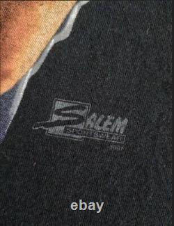 Rare Vintage Mario Lemieux Big Face 90's t shirt NHL Hockey Salem Sportwear