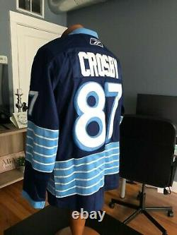 Reebok Edge Pittsburgh Penguins Sidney Crosby 2011 Winter Classic NHL Jersey 50