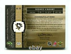 SIDNEY CROSBY 2nd Year 2006-07 Ultimate Patch Autograph Auto 1/15 AJ-SC Penguins