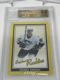Sidney Crosby 2005-06 Beehive Yellow, Blue, & Red Rookie Card Lot all BGS 9.5