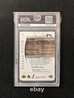 Sidney Crosby 2005-06 Sp Authentic Future Watch Ud Rc Card Auto Psa Gem Mint 10