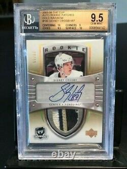 Sidney Crosby 2005-06 UD The Cup RPA Rookie Patch Auto RC #55/87 BGS 9.5/10