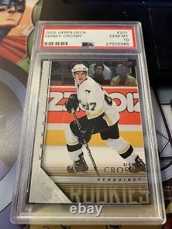 Sidney Crosby 2005-06 Upper Deck Young Guns Hockey #201 RC Rookie PSA 10