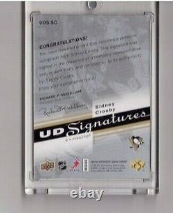 Sidney Crosby 2007-08 Upperdeck Ud Signatures Certified Autograph Sp Uds-sc Auto