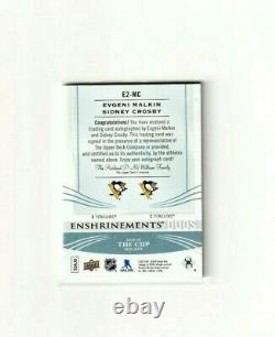 Sidney Crosby Evgeni Malkin Enshrinements Duos Autos The Cup 1/10 Penguins Wow