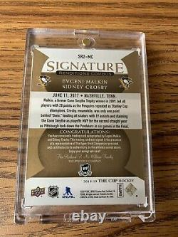 Sidney Crosby Evgeni Malkin UD The Cup Signature Renditions Combos Dual AUTO