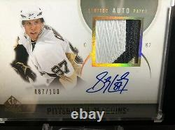 Sidney Crosby Jersey #D #872010-11 Sp Authentic Limited Auto / Patch 87/100