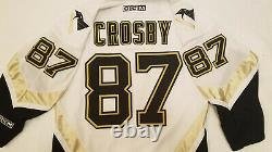 Sidney Crosby Pittsburgh Penguins Jersey Mens Medium M white CCM made in Canada