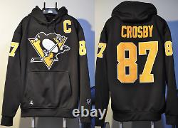 Sidney Crosby Pittsburgh Penguins NHL Jersey Hooded Sweatshirt Embroidered