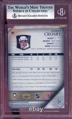 Sidney Crosby Rookie Card YG 2005-06 Upper Deck #201 BGS 9 (10 9.5 8.5 9.5)