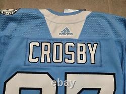 Size 56 MiC Adidas Pittsburgh Penguins Sidney Crosby NHL Authentic Hockey Jersey