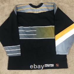 Starter Authentic Pittsburgh Penguins Robo Pen NHL Jersey Vintage Black 52