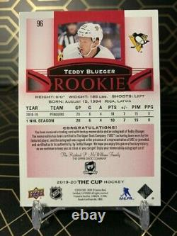 Upper Deck The Cup Teddy Blueger 1/2 Rookie Laundry Tag Auto Ssp