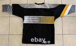 VINTAGE Pittsburgh Penguins NHL Hockey Starter Jersey L/XL RETRO AWESOME