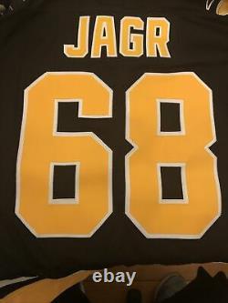 Vintage Large Starter Pittsburgh Penguins Jaromir Jagr Stitched Jersey NHL Patch