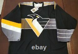 Vintage NEW Pittsburgh Penguins Men's XL CCM Hockey Jersey NHL ROBO PENGUIN Rare